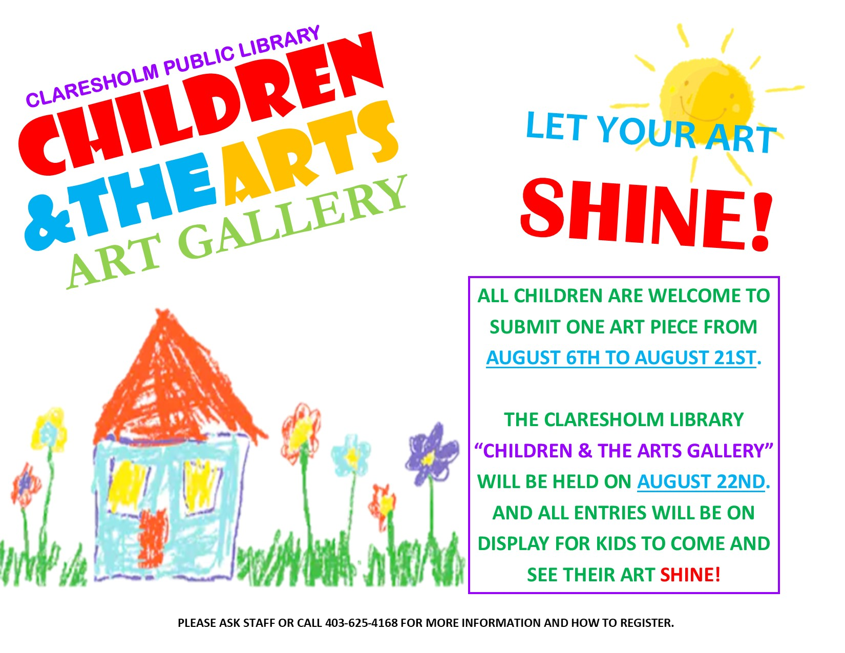 Children's Art Gallery - Claresholm Public Library